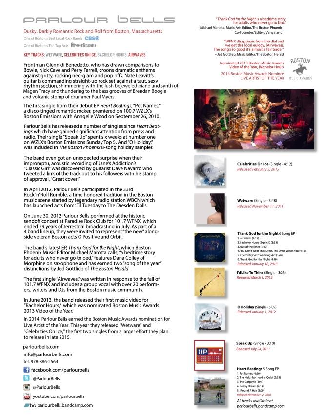 Parlour Bells 1-Sheet 2015